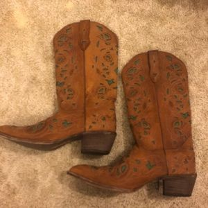 Cowboy boots genuine leather